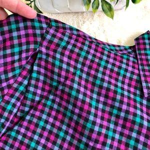 Rafaella Tops - Vintage pink green purple button up shirt medium